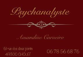 Psychanalyste Amandine Carneiro Cholet