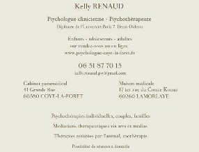 Kelly RENAUD - Psychologue clinicienne - Psychothérapeute LAMORLAYE