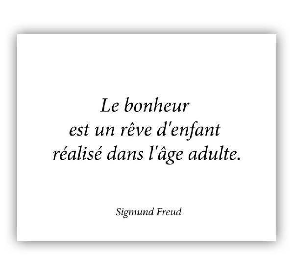 Citation de Freud.